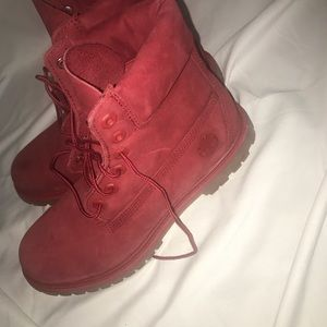Shoes - Red timberlands